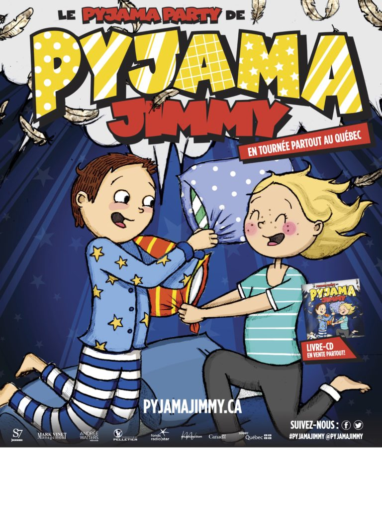 Le pyjama party de Pyjama Jimmy